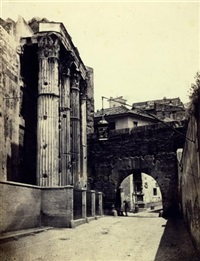 tempel des mars ultor und arco dei pantani (+ nerva/augustus, roma, in collab. w/giorgio sommer; 2 works) by edmondo behles
