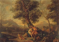 angelica and medoro by jacques des rousseaux