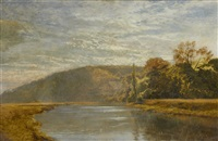 early morning on the arun by george vicat cole