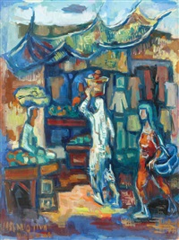 figures in a passageway by miron sima