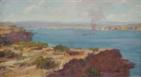 manly from south head by robert richmond campbell