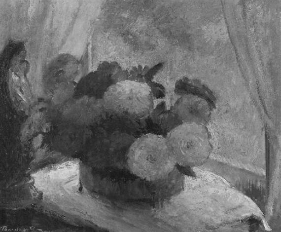 zinnias and marigolds by bernhard gutmann