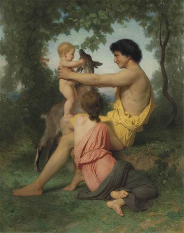 idylle: famille antique by william adolphe bouguereau