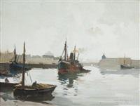 le port de concarneau by lucien victor félix delpy