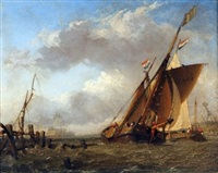 shipping on the medway by miles edmund cotman