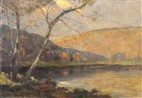 automne au lac de ruy près spa by dieudonne jacobs