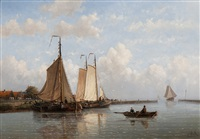 ships by an estuary by hendrik hulk