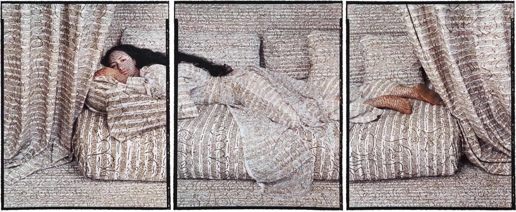 les femmes du maroc harem beauty no 27 triptych by lalla essaydi