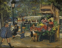 marchande de fleurs, paris by lois mailou jones