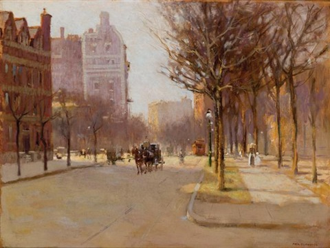 a spring day new york by paul cornoyer