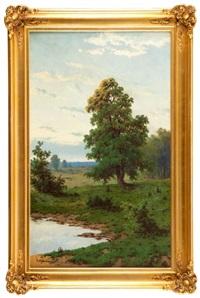 pejzaż z drzewem by jozef guranowski