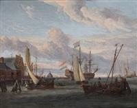 vue du port d'amsterdam by abraham jansz storck