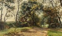 vej i moesgaard skov by janus andreas barthotin la cour
