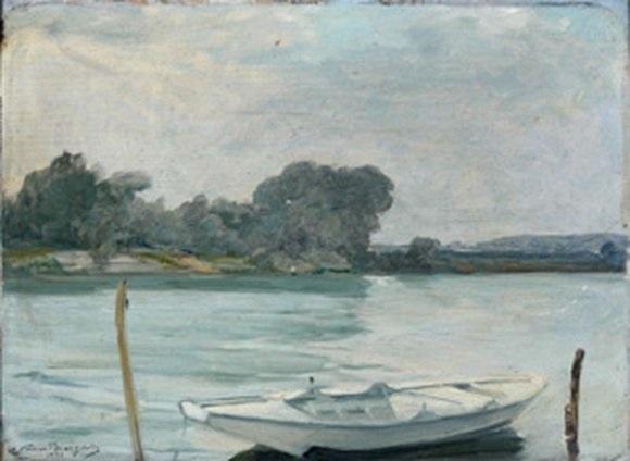 barque sur la seine by adrien gabriel voisard margerie
