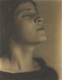 head of an italian girl (tina modotti) by edward weston