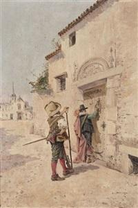 la visite réunion de mousquetaires (2 works) by enrique atalaya