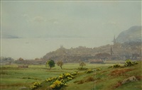 dunoon from the golf links (+ another; 2 works) by george drummond fish