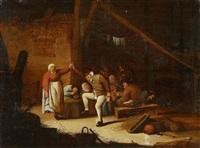 interieur mit tanzenden bauern by bartholomeus molenaer