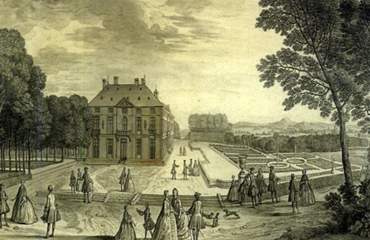promeneurs dans les jardins du château de sceaux by jacques rigaud