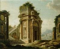 landschaft mit ruinen by antoine gonzalès