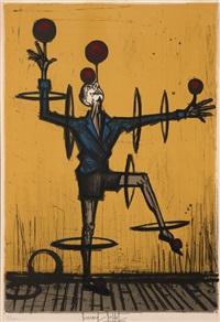 le jongleur, planche extraite de l'album mon cirque by bernard buffet