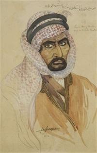 portrait de l'emir noury chaalan by léa (madame) lafugie