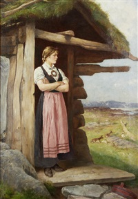 at the cottage door by axel ender