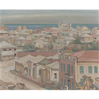 view of tel aviv by wilhelm wachtel