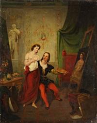 raphaël et la fornarina by jean henri marlet