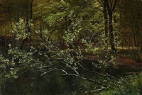 forest scene by carl frederik peder aagaard