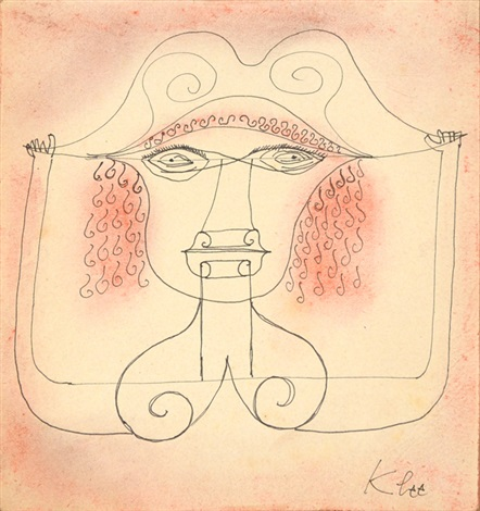 from singer of the comic opera by paul klee