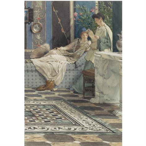 from an absent one by sir lawrence alma tadema