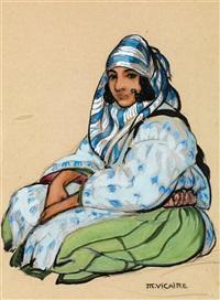 jeune fille à la jupe verte by marcel vicaire