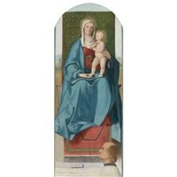 the madonna and child enthroned with a donor by boccacio boccaccino