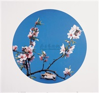 仿(宋)碧桃图 (imitation song dynasty's peach flower) by hong lei