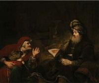 sarah demanding from abraham the banishment of hagar and ishmael by aert de gelder