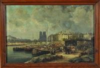 paris, les quais de la seine by edme-emile laborne