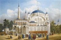 the nusretiye mosque by louis emile pinel de grandchamp