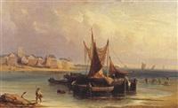 barques de pêche à la côte by nicholas edward gabe