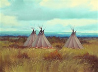untitled (fall tee pees) by ron bailey