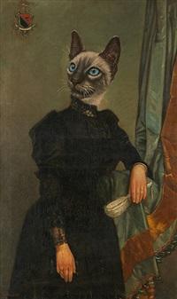 un portrait chat-virant by thierry poncelet