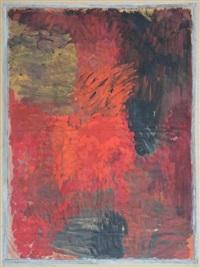 composition en noir et rouge by jozef jarema