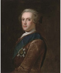 portrait of sir james hamilton, 6th duke of hamilton, wearing the star of the garter by jeremiah davison