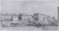view of buildings at naples by henry tresham