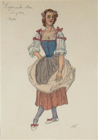 queen of may (costume design for a choir singer) by aleksandr yakovlevich golovin