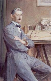 portrait de l'architecte victor gilbert by eugène martial simas