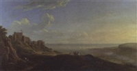 view of dover castle and bay by george lambert