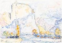 le roc de castellane dans les gorges du verdon by paul signac