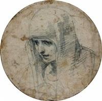 vierge en buste by francesco (cecco bravo) montelatici