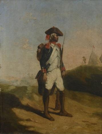 portrait dhomme by nicolas toussaint charlet